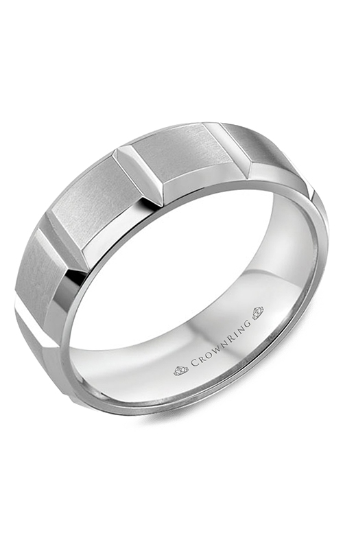 CrownRing Classic and Carved Wedding band WB-8176 product image