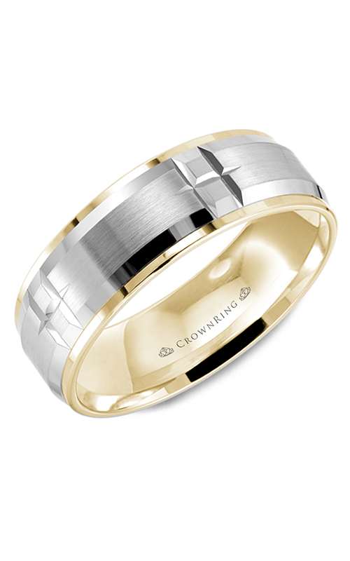 CrownRing Classic and Carved Wedding band WB-9404WY product image