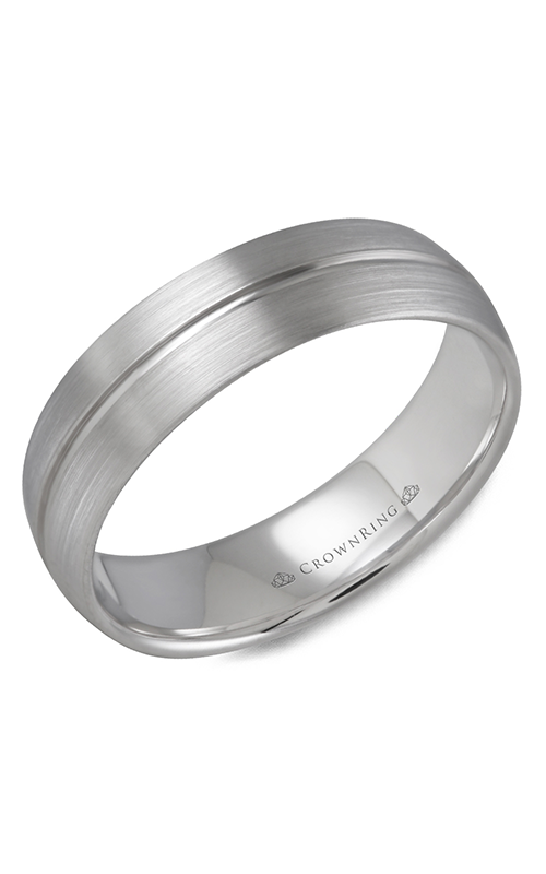 CrownRing Classic and Carved Wedding band WB-9509 product image