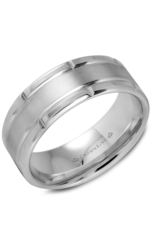 CrownRing Classic and Carved Wedding band WB-9512 product image
