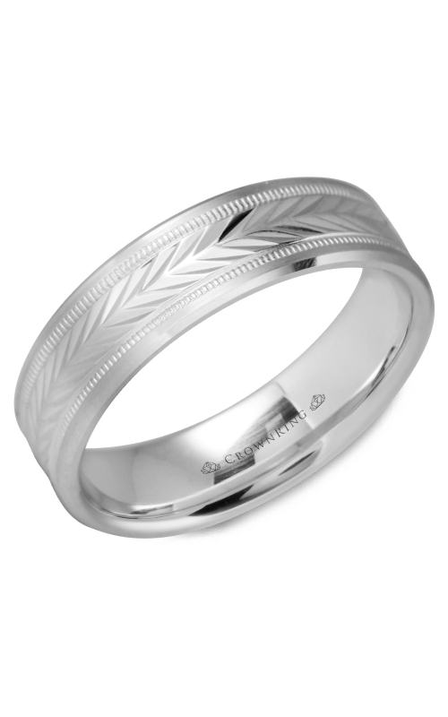 CrownRing Classic and Carved Wedding Band WB-9539 product image