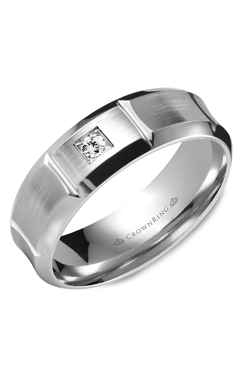 CrownRing Diamond Wedding band WB-9961W product image