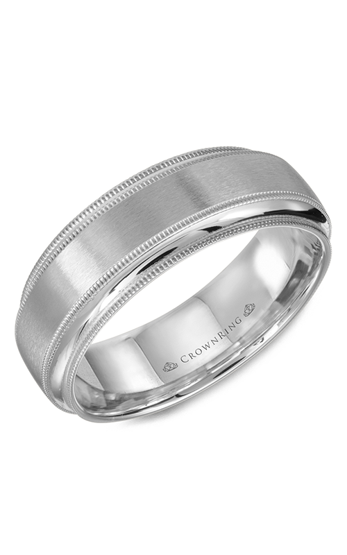 CrownRing Classic and Carved Wedding band WB-9977W product image