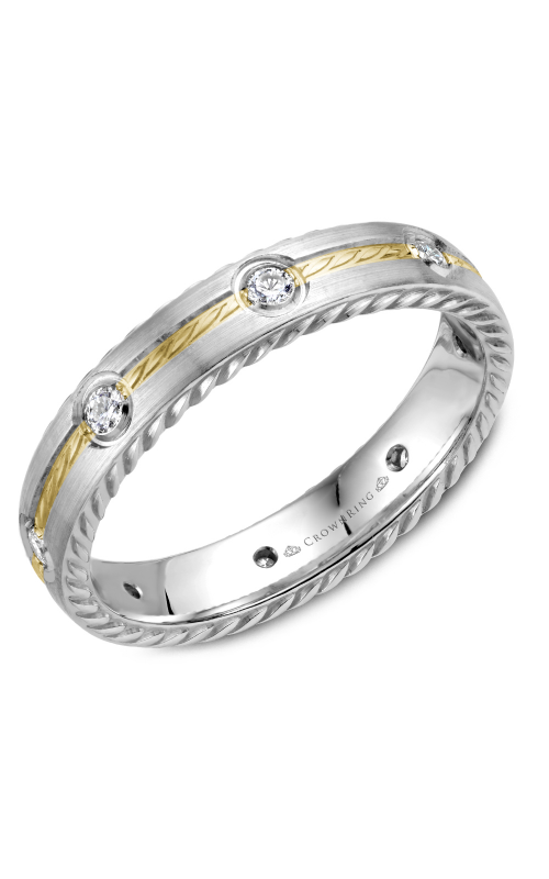 CrownRing Rope Wedding band WB-014RD4YW product image