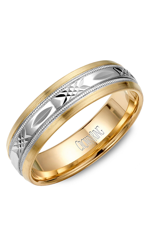 CrownRing Classic and Carved Wedding band WB-7000 product image