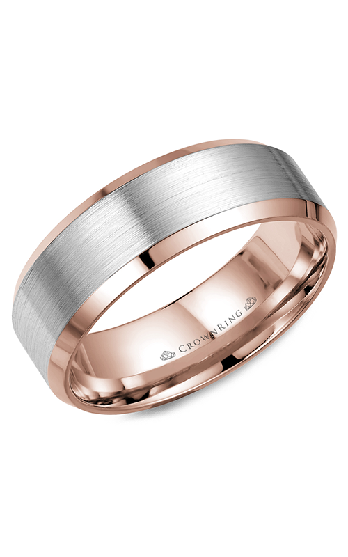 CrownRing Classic and Carved Wedding band WB-7131WR product image