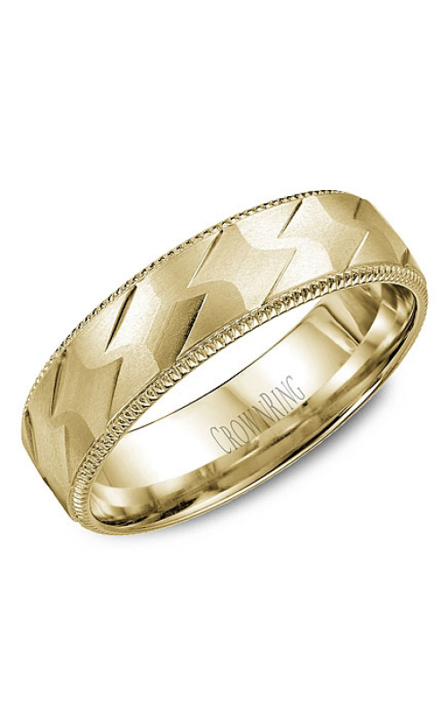 CrownRing Classic and Carved Wedding band WB-7913Y product image