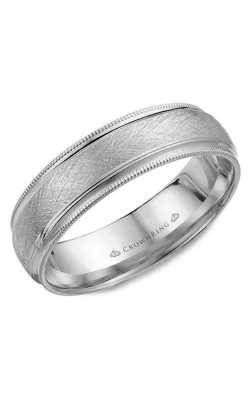 CrownRing Classic and Carved Wedding band WB-7915W product image