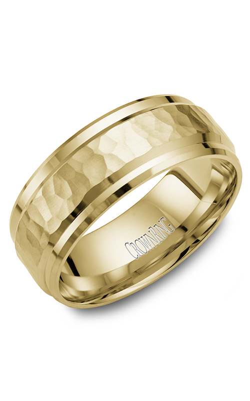 CrownRing Classic and Carved Wedding band WB-9550Y product image