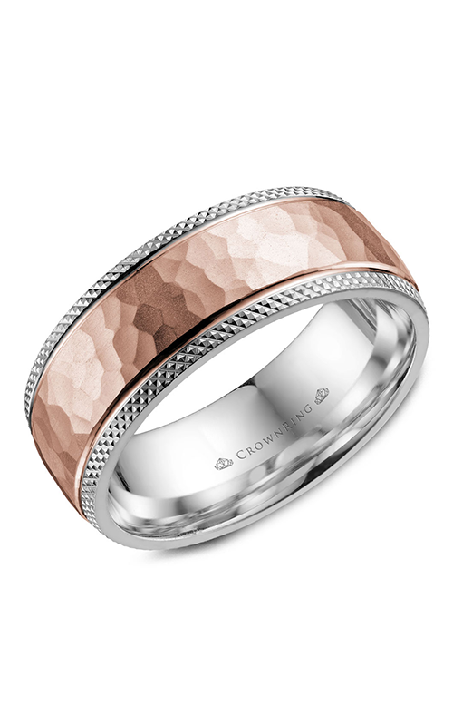 CrownRing Classic and Carved Wedding band WB-035C8RW product image