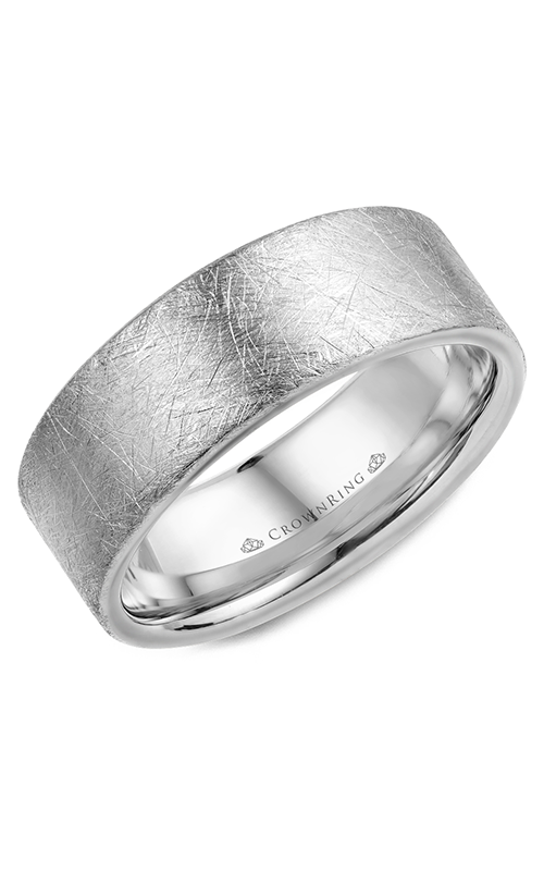 CrownRing Classic and Carved Wedding band WB-025C8W product image