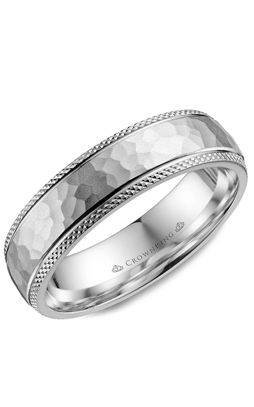 CrownRing Classic and Carved Wedding band WB-035C6W product image