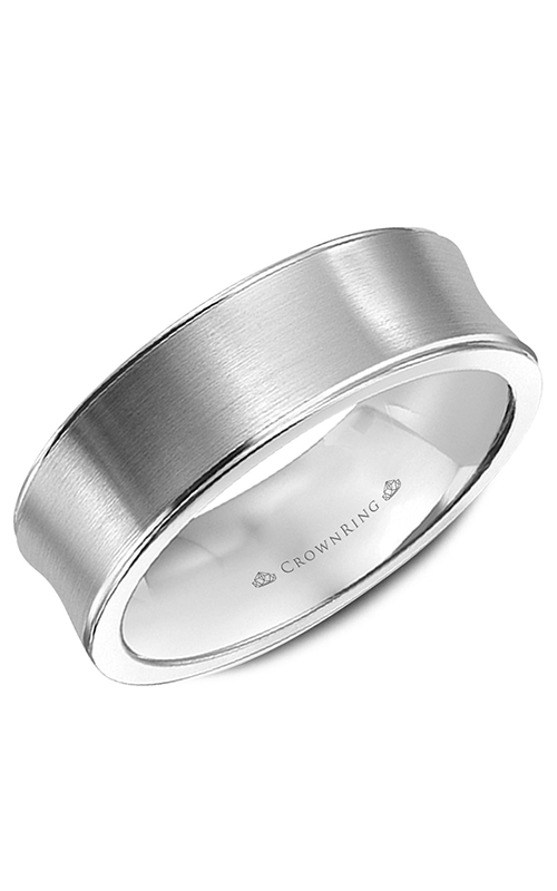 CrownRing Classic and Carved Wedding band WB-9047 product image