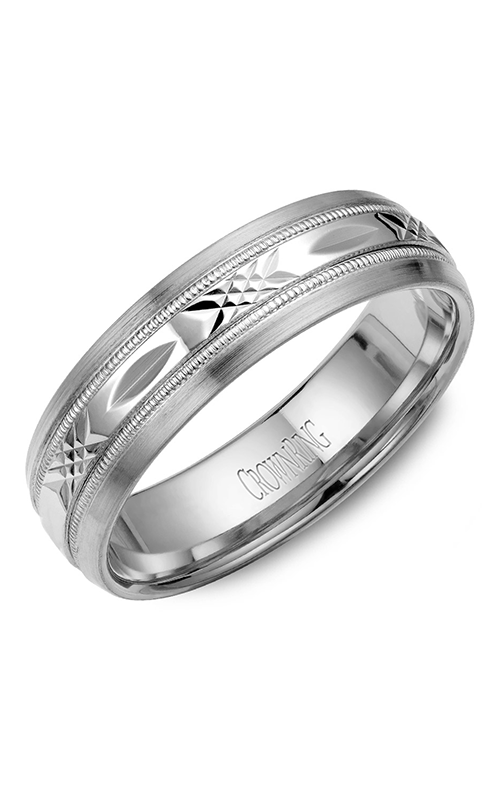 CrownRing Classic and Carved Wedding Band WB-7002 product image