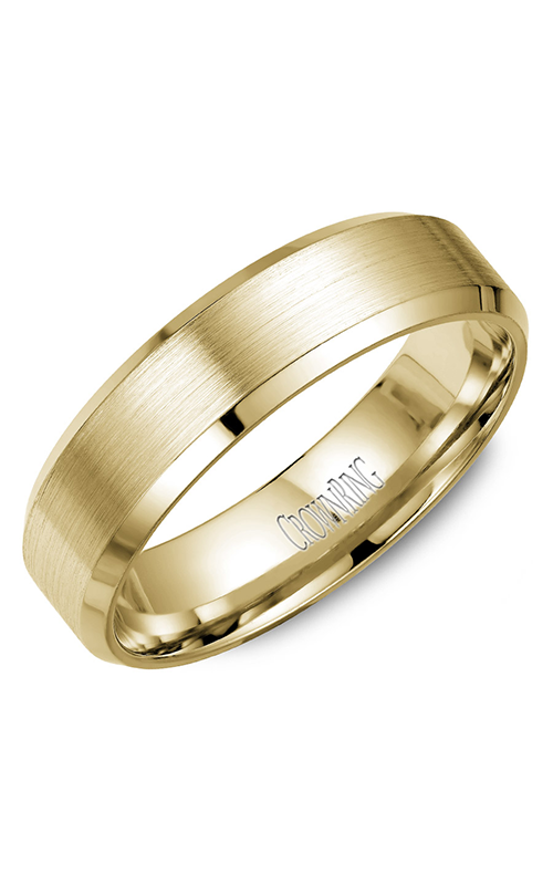 Crown Ring Men's Wedding Band WB-7007Y product image