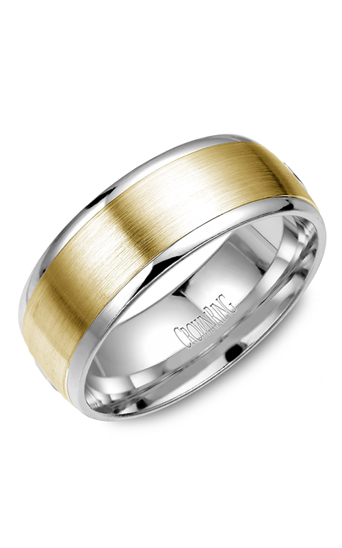 CrownRing Classic and Carved wedding band WB-7068 product image
