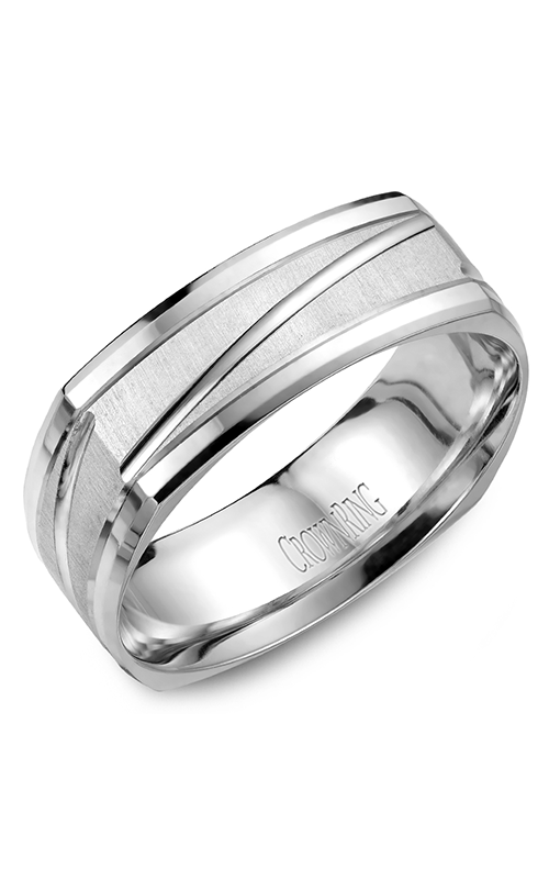 Crown Ring Men's Wedding Band WB-7909 product image
