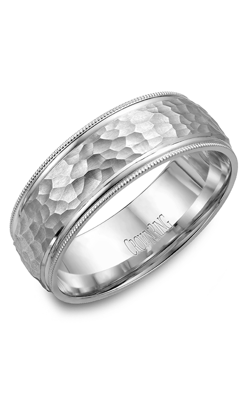 Crown Ring Men's Wedding Band WB-7914 product image