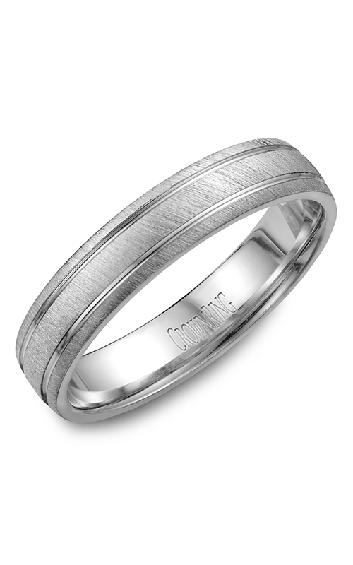 CrownRing Classic and Carved Wedding Band WB-7929 product image