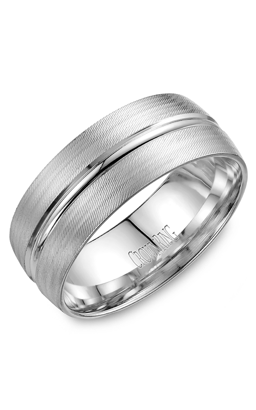 CrownRing Classic and Carved Wedding Band WB-7934 product image