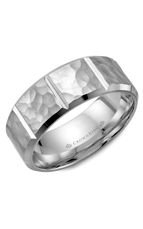 CrownRing Classic and Carved wedding band WB-9097 product image