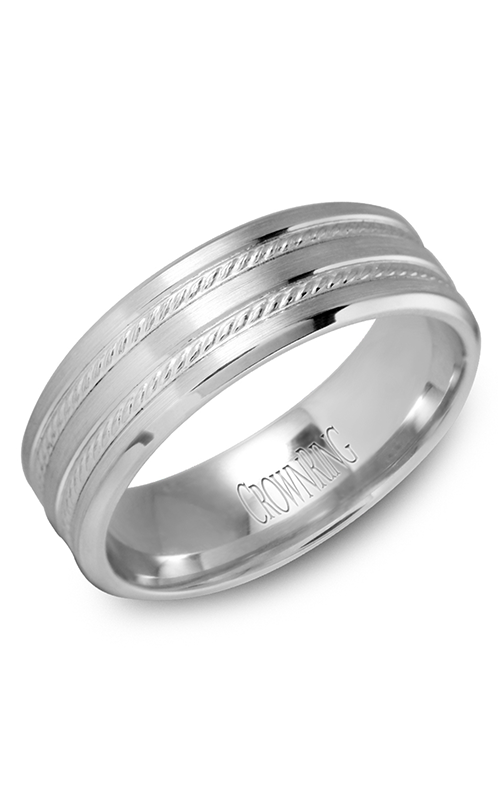 Crown Ring Men's Wedding Band WB-9503 product image