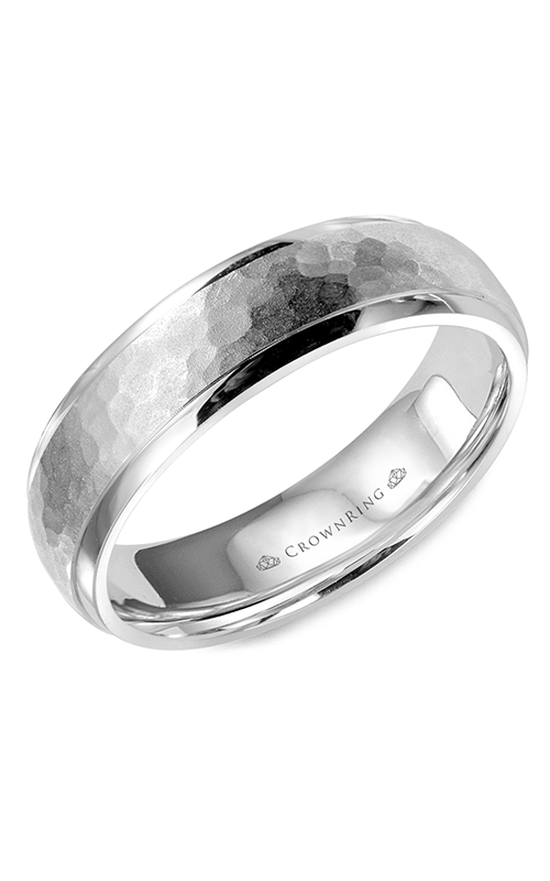 CrownRing Classic and Carved Wedding Band WB-9918 product image