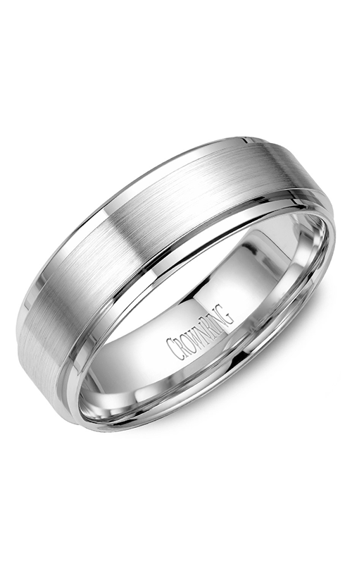 CrownRing Classic and Carved Wedding Band WB-9710 product image