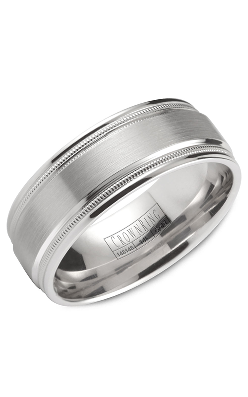 Crown Ring Men's Wedding Band WB-9844 product image