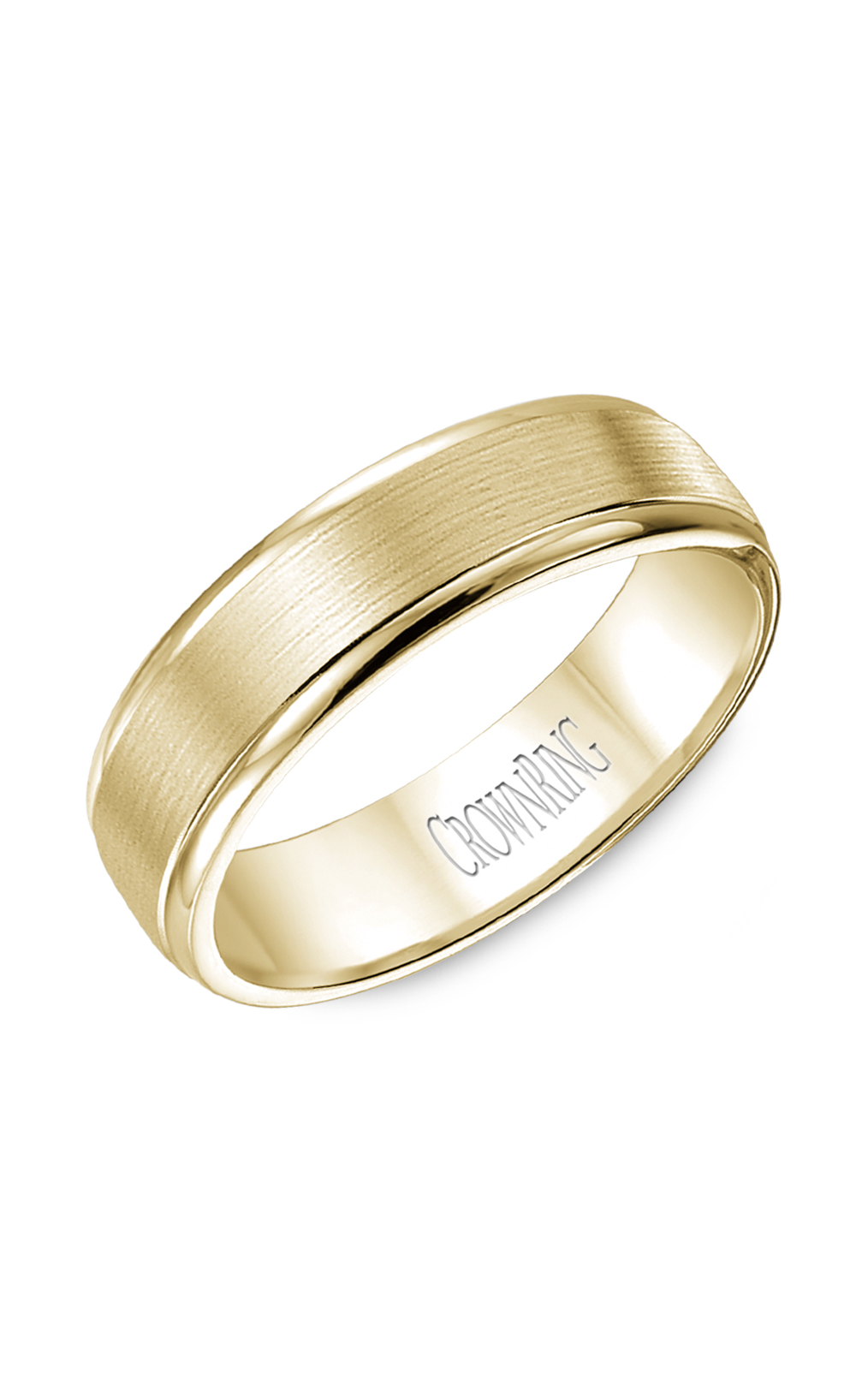 Crown Ring Men's Wedding Band WB-7019Y product image