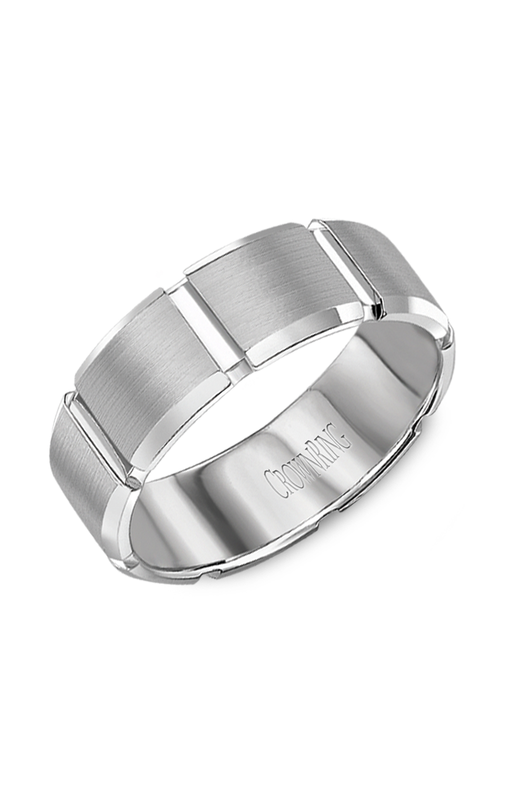 Crown Ring Men's Wedding Band WB-7038 product image