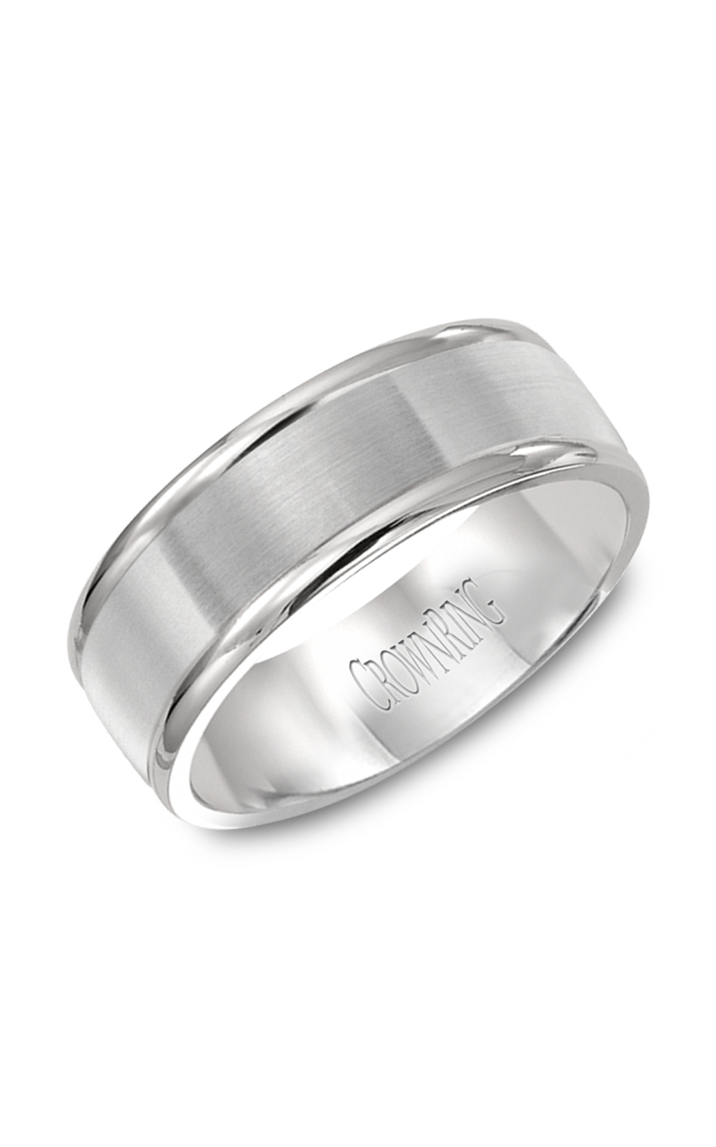 CrownRing Classic and Carved Wedding Band WB-7134SP product image