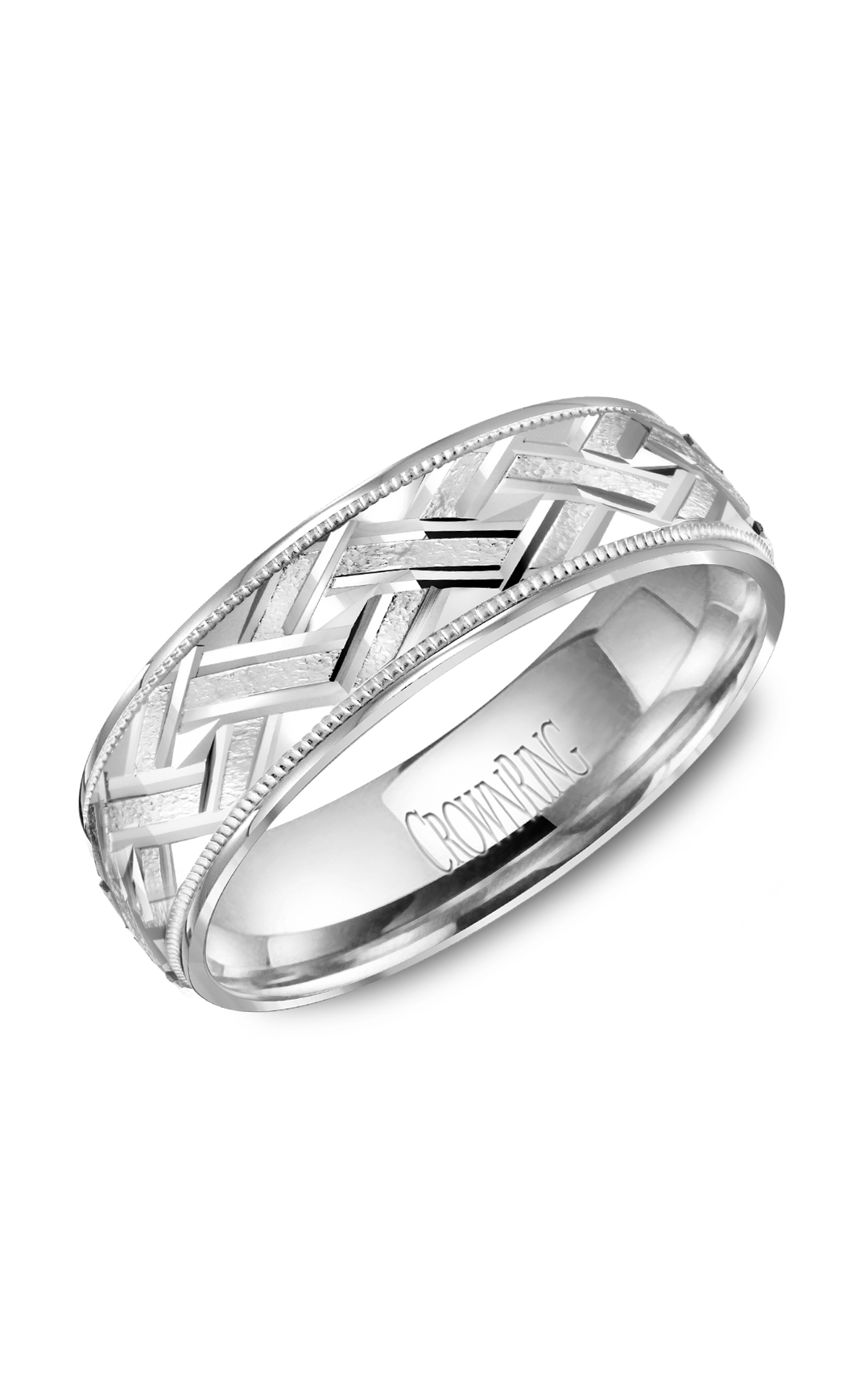 Crown Ring Men's Wedding Band WB-8073 product image
