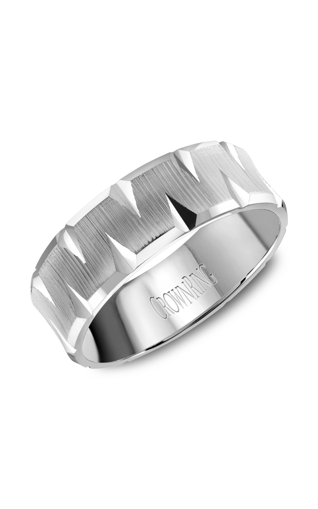 CrownRing Classic and Carved Wedding Band WB-8077 product image