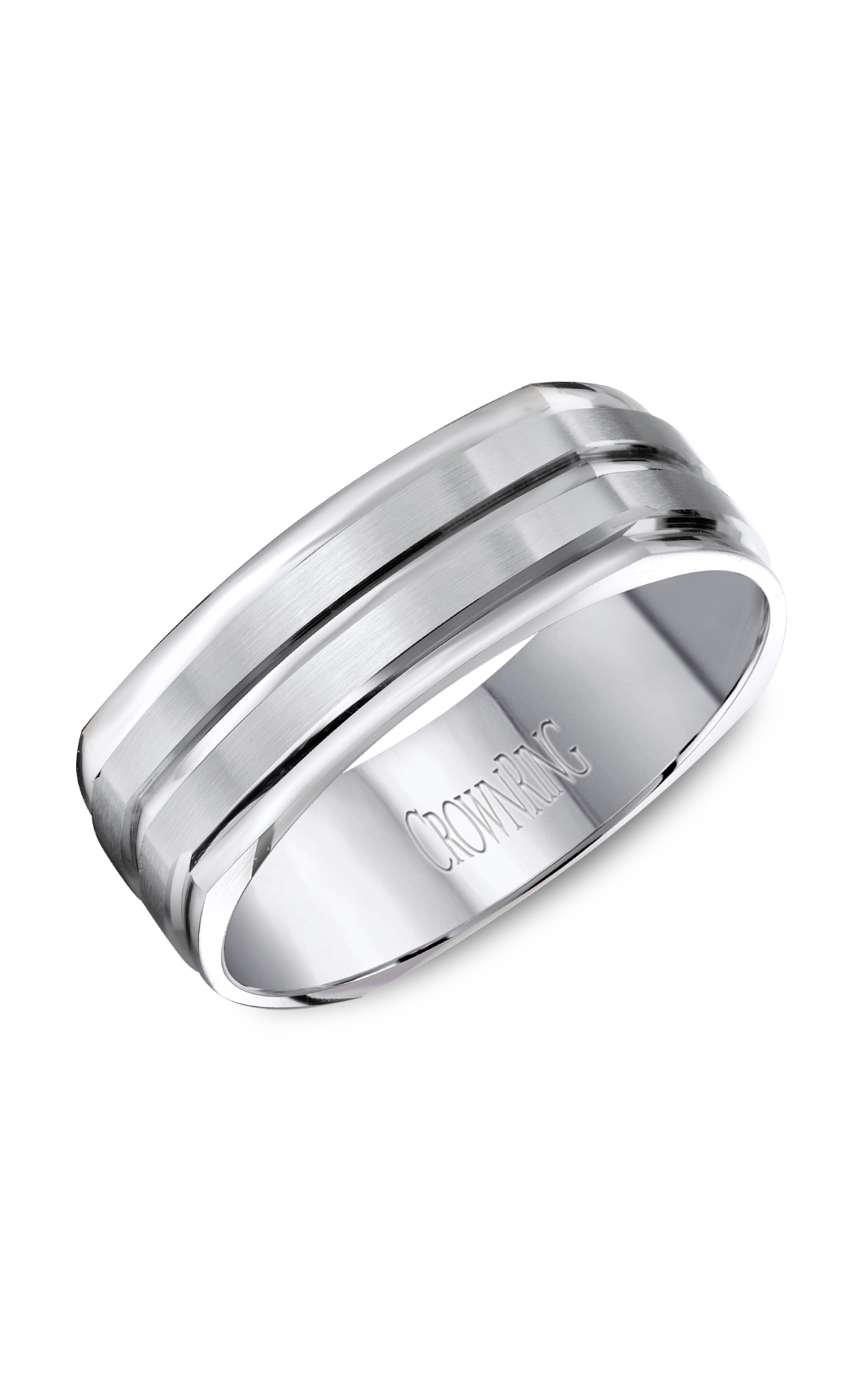Crown Ring Men's Wedding Band WB-8092 product image