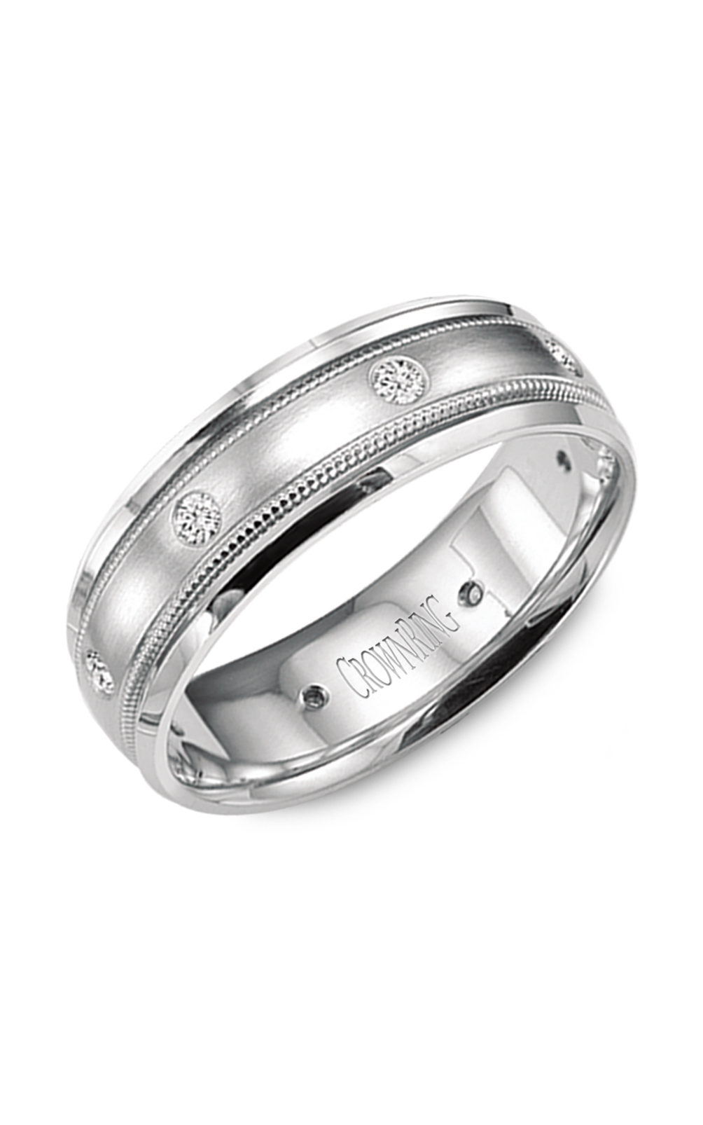 CrownRing Diamond Wedding Band WB-9025 product image