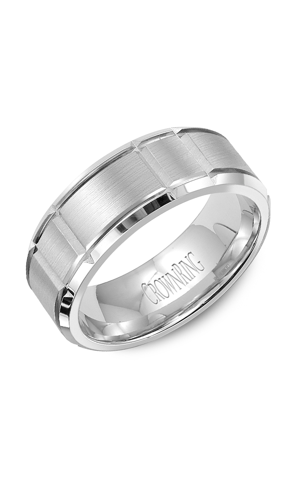 Crown Ring Men's Wedding Band WB-9121SP product image