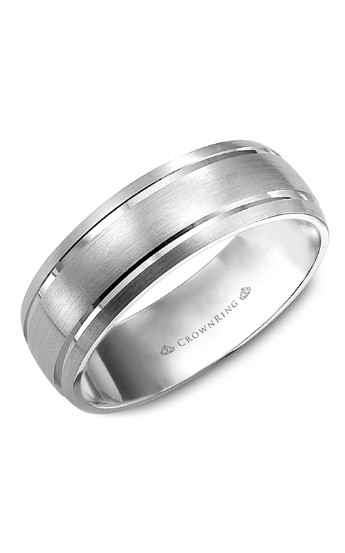 Crown Ring Men's Wedding Band WB-9142 product image