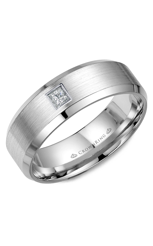 Crown Ring Men's Wedding Band WB-9826 product image