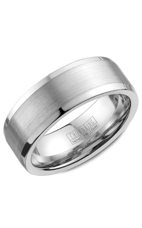 Crown Ring Men's Wedding Band WB-9845 product image