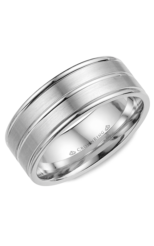 CrownRing Classic and Carved Wedding Band WB-9901 product image