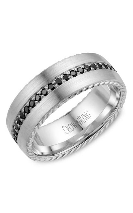 Crown Ring Men's Wedding Band WB-002RD8W product image