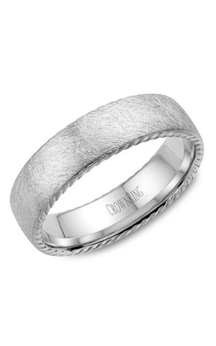 Crown Ring Men's Wedding Band WB-006R6W product image