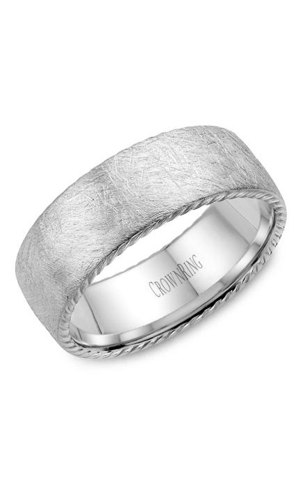 Crown Ring Men's Wedding Band WB-006R8W product image