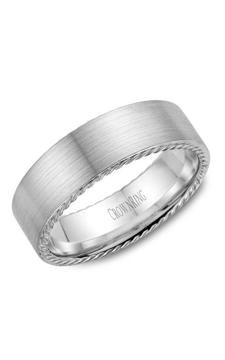 Crown Ring Men's Wedding Band WB-009R7W product image