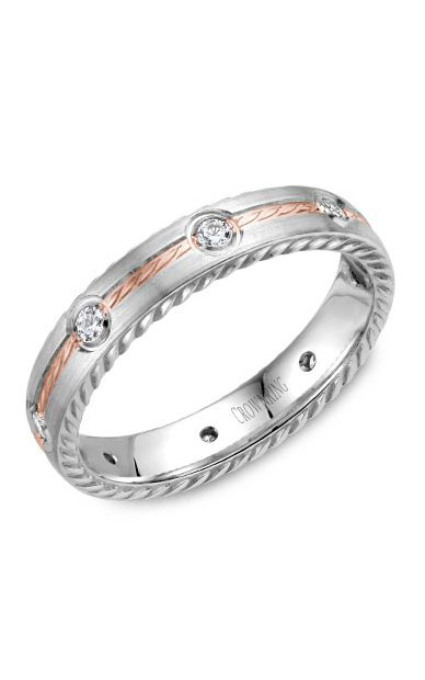 Crown Ring Men's Wedding Band WB-014RD4RW product image
