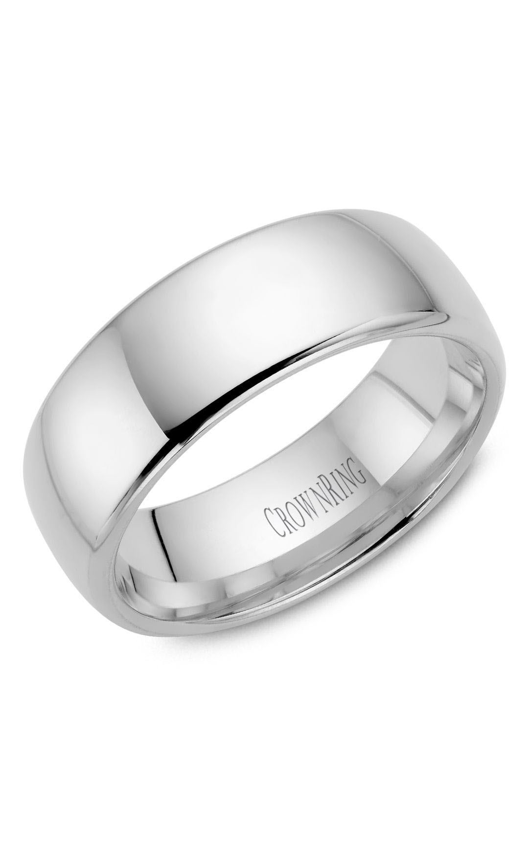 Crown Ring Men's Wedding Band TDS14W8 product image