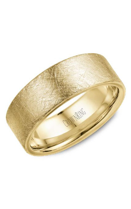 Crown Ring Men's Wedding Band WB-025C8Y product image