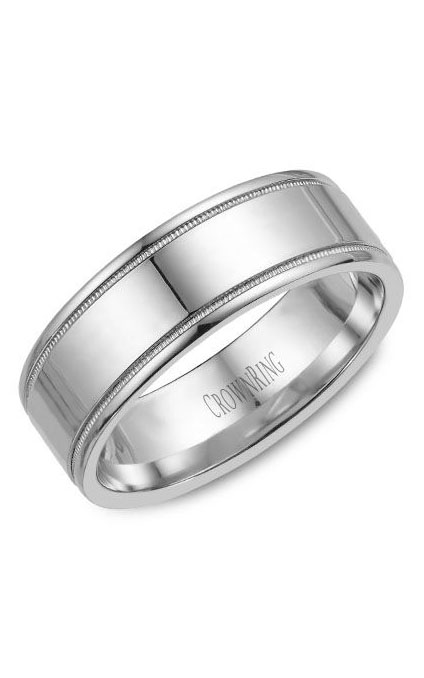 Crown Ring Men's Wedding Band WB-6815 product image