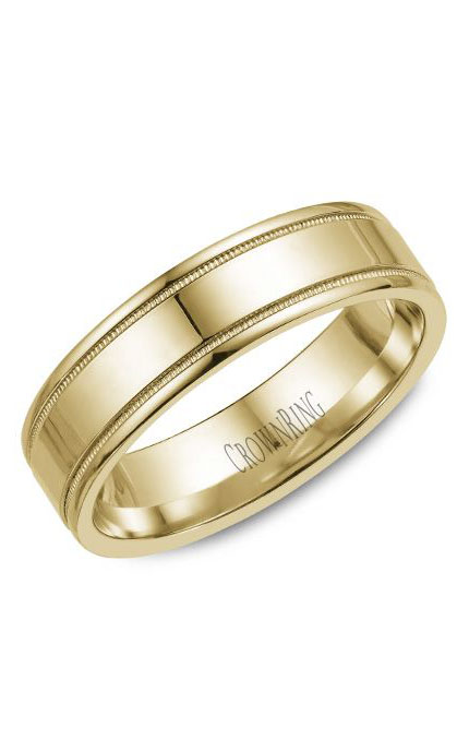 Crown Ring Men's Wedding Band WB-6901Y product image